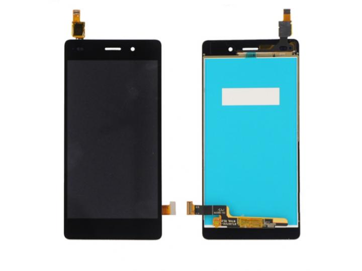 Фирменный LCD-ЖК-сенсорный дисплей-экран-стекло с тачскрином на телефон Huawei P8 Lite  черный + гарантия..