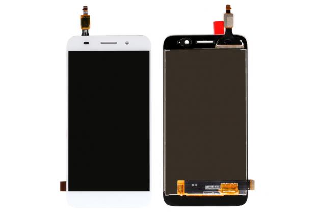 Фирменный LCD-ЖК-сенсорный дисплей-экран-стекло с тачскрином на телефон Huawei Y3 2017 (CRO-U00 / CRO-L02) 5.0 белый + гарантия