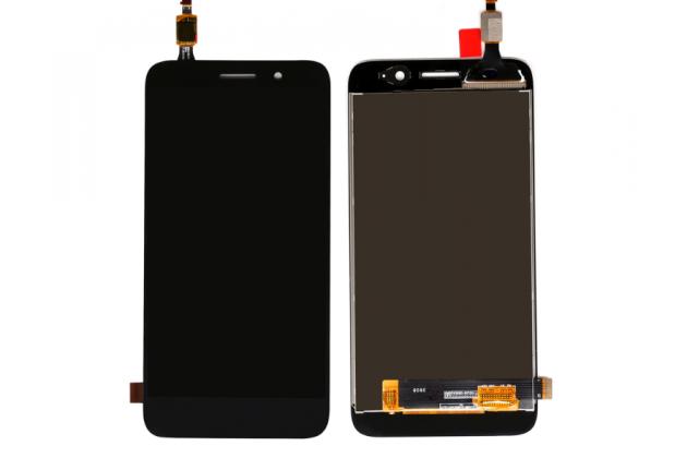 Фирменный LCD-ЖК-сенсорный дисплей-экран-стекло с тачскрином на телефон Huawei Y3 2017 (CRO-U00 / CRO-L02) 5.0 черный + гарантия