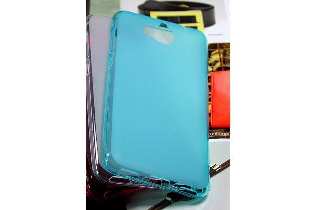 Фирменная ультра-тонкая полимерная из мягкого качественного силикона задняя панель-чехол-накладка для Huawei Y5 2017 (MYA-AL10 / MYA-U29) / Huawei Honor 6 Play голубая