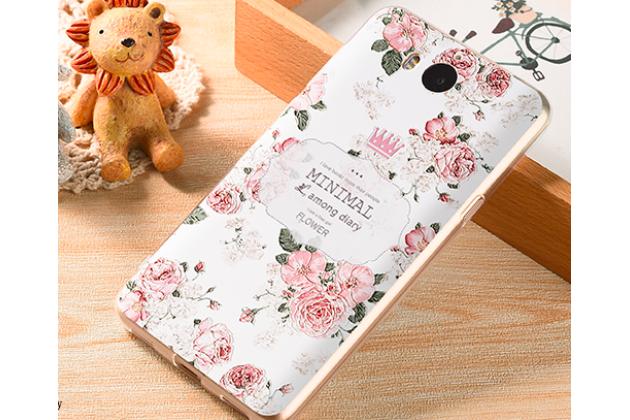"""Фирменная роскошная задняя панель-чехол-накладка из мягкого силикона с объемным 3D изображением  на Huawei Y5 2017 (MYA-AL10 / MYA-U29) / Huawei Honor 6 Play с безумно красивым рисунком """"Розы"""""""