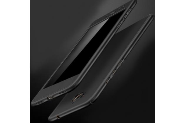 Фирменный чехол-бокс-корпус-панель в комплекте с задней и передней крышкой из тончайшего и прочного пластика для Huawei Y5 2017 (MYA-AL10 / MYA-U29) / Huawei Honor 6 Play черная