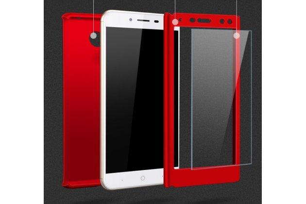 Фирменный чехол-бокс-корпус-панель в комплекте с задней и передней крышкой из тончайшего и прочного пластика для Huawei Y5 2017 (MYA-AL10 / MYA-U29) / Huawei Honor 6 Play красная