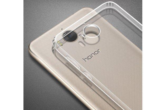 Фирменная ультра-тонкая полимерная из мягкого качественного силикона задняя панель-чехол-накладка для Huawei Y5 2017 (MYA-AL10 / MYA-U29) / Huawei Honor 6 Play прозрачная