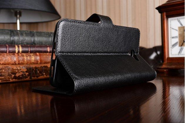 Фирменный премиальный элитный чехол-книжка из качественной импортной кожи с мульти-подставкой и визитницей для Huawei Y7 (TRT-LX1) 5.5 черный