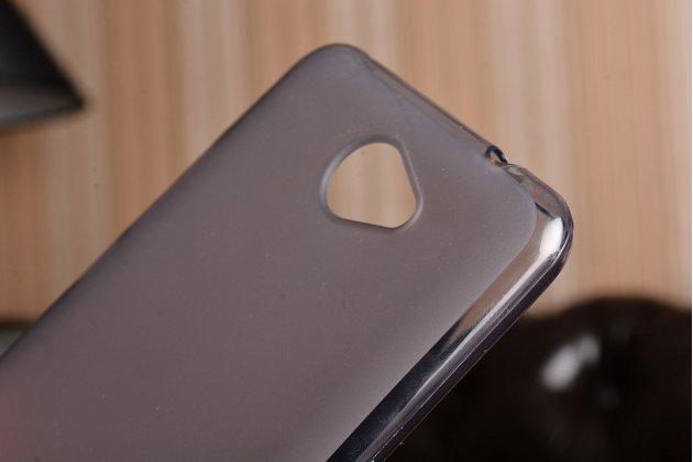 Фирменная ультра-тонкая силиконовая задняя панель-чехол-накладка для Huawei Y7 (TRT-LX1) 5.5 черная матовая