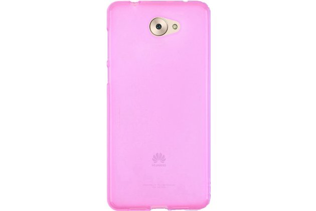 Фирменная ультра-тонкая пластиковая задняя панель-чехол-накладка для Huawei Y7 (TRT-LX1) 5.5 розовая