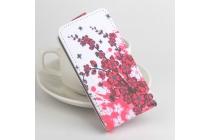 Фирменный вертикальный откидной чехол-флип для  iNew L4 тематика Цветок вишни