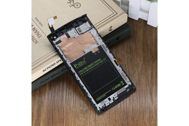 Фирменный LCD-ЖК-сенсорный дисплей-экран-стекло с тачскрином на телефон iNew V1 черный + гарантия