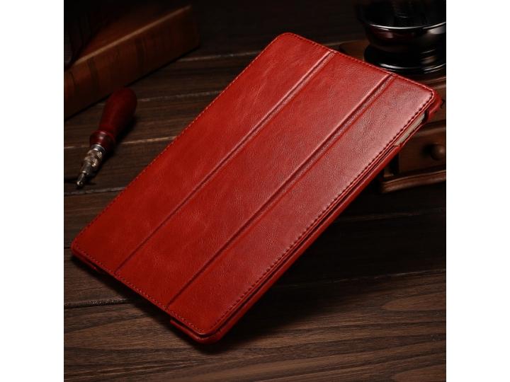 Фирменный премиальный чехол бизнес класса для iPad Air 2 с визитницей из качественной импортной кожи