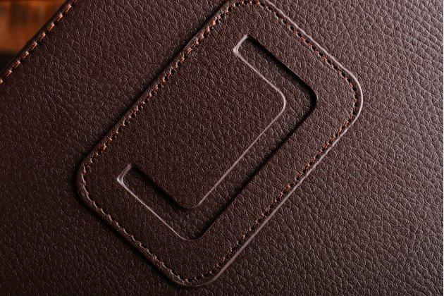 Фирменный чехол-обложка с подставкой для iPad Pro 10.5 коричневый кожаный
