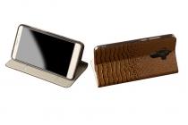 Фирменный роскошный эксклюзивный чехол с объёмным 3D изображением кожи крокодила  черный для iPhone 7 . Только в нашем магазине. Количество ограничено
