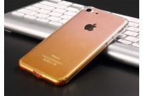 Фирменная ультра-тонкая полимерная из мягкого качественного силикона задняя панель-чехол-накладка для iPhone 7 Эффект Песка