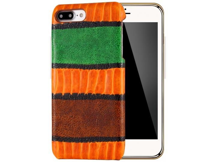 Фирменная роскошная элитная премиальная задняя панель-крышка для iPhone 7 / iPhone 8 из качественной кожи буйв..