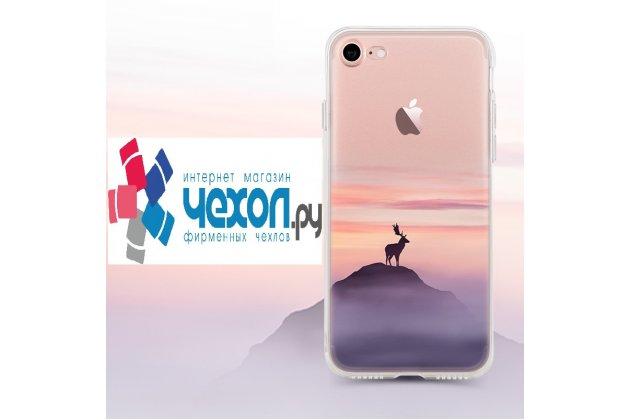 Фирменная роскошная задняя панель-чехол-накладка из мягкого силикона с объемным  3D изображением  на iPhone 7 Plus / iPhone 8 Plus c с безумно красивым рисунком  оленя