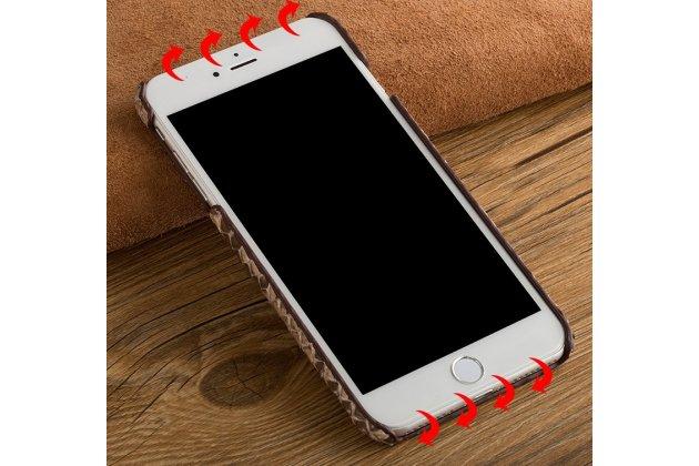 Фирменная ультра-тонкая пластиковая задняя панель-чехол-накладка для iPhone 7 Plus / iPhone 8 Plus змеиная кожа