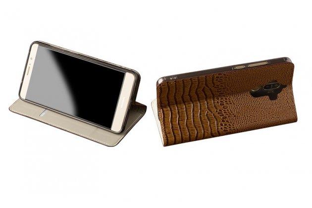 Фирменный роскошный эксклюзивный чехол с объёмным 3D изображением кожи крокодила коричневый для iPhone 7 Plus/iPhone 8 Plus . Только в нашем магазине. Количество ограничено