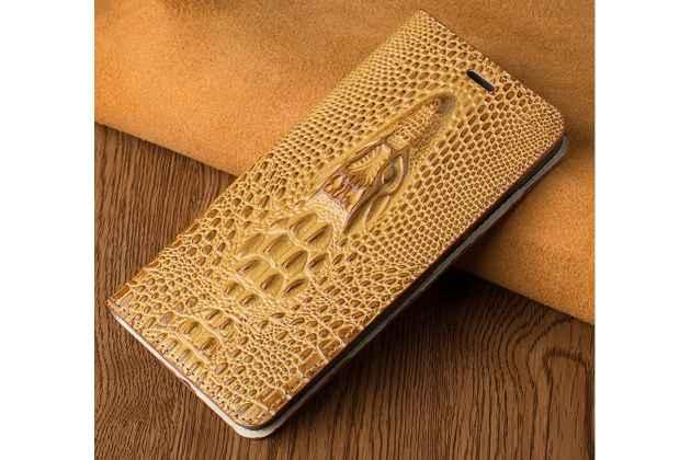 Фирменный роскошный эксклюзивный чехол с объёмным 3D изображением кожи крокодила желтый для iPhone 7 Plus/iPhone 8 Plus . Только в нашем магазине. Количество ограничено