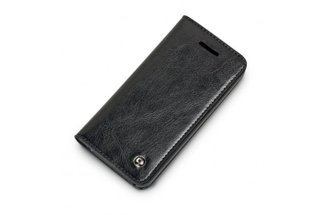 Фирменный премиальный элитный чехол-книжка из качественной импортной кожи с мульти-подставкой и визитницей для iPhone SE/ 5SE  черный