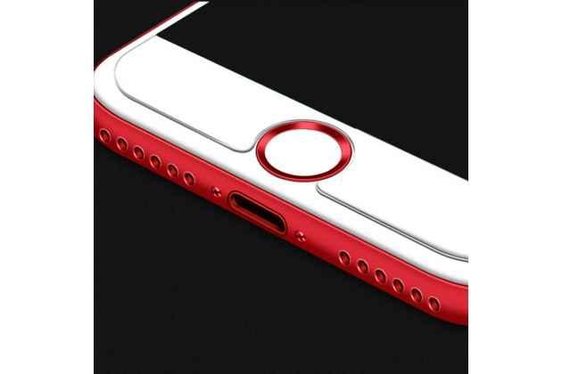 Защитная наклейка на кнопку телефона iPhone 7 4.7 PRODUCT RED Special Edition / iPhone 8 красная