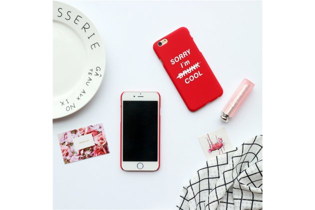 """Фирменная необычная из легчайшего и тончайшего пластика задняя панель-чехол-накладка для iPhone 7 Plus   5.5 PRODUCT RED Special Edition тематика """"Я крут"""""""