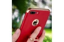 Фирменная ультра-тонкая пластиковая задняя панель-крышка-накладка в металлическом корпусе для iPhone 7 Plus + 5.5 PRODUCT RED Special Edition красная