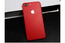 Оригинальная эксклюзивная задняя кожаная наклейка (из натуральной кожи) для iPhone 7 Plus + 5.5 PRODUCT RED Special Edition красная