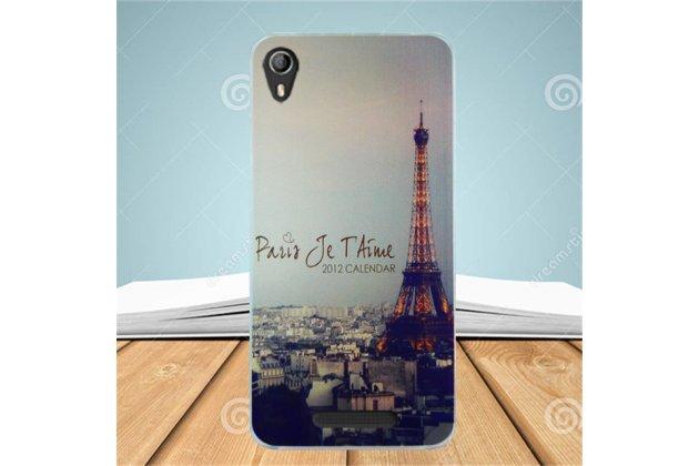 Фирменная ультра-тонкая полимерная из мягкого качественного силикона задняя панель-чехол-накладка для Leagoo Elite 2 тематика Париж