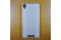 Фирменная ультра-тонкая полимерная из мягкого качественного силикона задняя панель-чехол-накладка для Leagoo Elite 2 белая