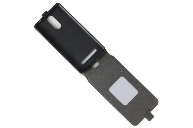 Фирменный оригинальный вертикальный откидной чехол-флип для Leagoo M8 / M8 Pro черный из натуральной кожи Prestige Италия