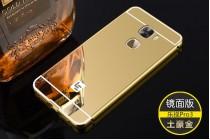 Фирменная металлическая задняя панель-крышка-накладка из тончайшего облегченного авиационного алюминия для LeEco (LeTV) Pro 3 золотая