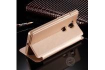 Фирменный оригинальный чехол-книжка для LeEco (LeTV) Pro 3 золотой с окошком для входящих вызовов водоотталкивающий