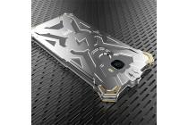 Противоударный металлический чехол-бампер из цельного куска металла с усиленной защитой углов и необычным экстремальным дизайном  для  LeEco (LeTV) Pro 3 серебристый