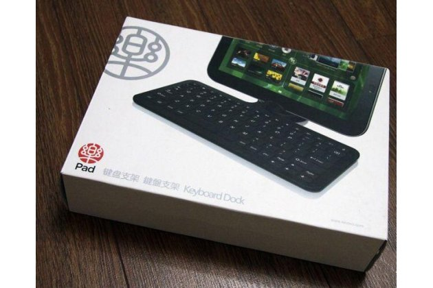 Фирменная оригинальная съемная клавиатура/док-станция/база KD100 для планшета Lenovo IdeaPad K1 (K1-10W64 / K1-10W32 / B / K / R) черного цвета + гарантия + русские клавиши