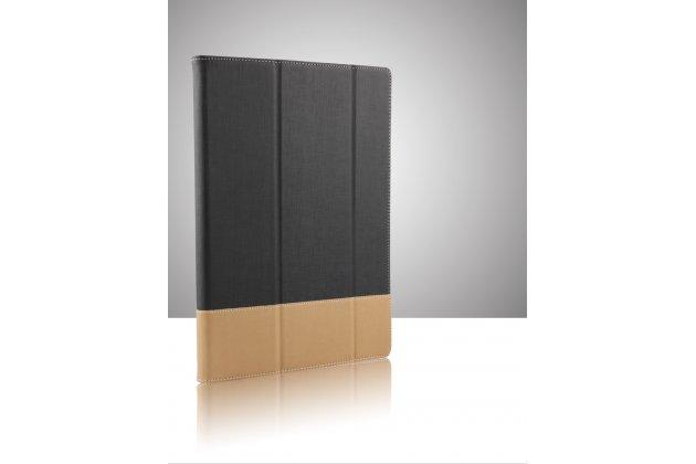 Винтажный сегментарный чехол-книжка-подставка с рамочной защитой экрана, крепежом для стилуса и поддержкой кисти для Lenovo ideapad MIIX 310 черный