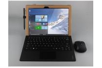Винтажный сегментарный чехол-книжка-подставка с рамочной защитой экрана, крепежом для стилуса и поддержкой кисти для Lenovo ideapad MIIX 310 коричневый