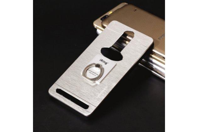 """Фирменная металлическая задняя панель-крышка-накладка из тончайшего облегченного авиационного алюминия для Lenovo K5 Note (K52t38 / K52e78) 5.5"""" серебристая"""