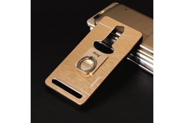 """Фирменная металлическая задняя панель-крышка-накладка из тончайшего облегченного авиационного алюминия для Lenovo K5 Note (K52t38 / K52e78) 5.5"""" золотая"""