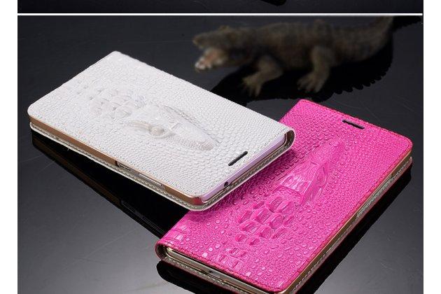 """Фирменный роскошный эксклюзивный чехол с объёмным 3D изображением кожи крокодила розовый для Lenovo K5 Note (K52t38 / K52e78) 5.5"""". Только в нашем магазине. Количество ограничено"""