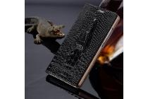 """Фирменный роскошный эксклюзивный чехол с объёмным 3D изображением рельефа кожи крокодила черный для  Lenovo K5 Note (K52t38 / K52e78) 5.5"""". Только в нашем магазине. Количество ограничено"""