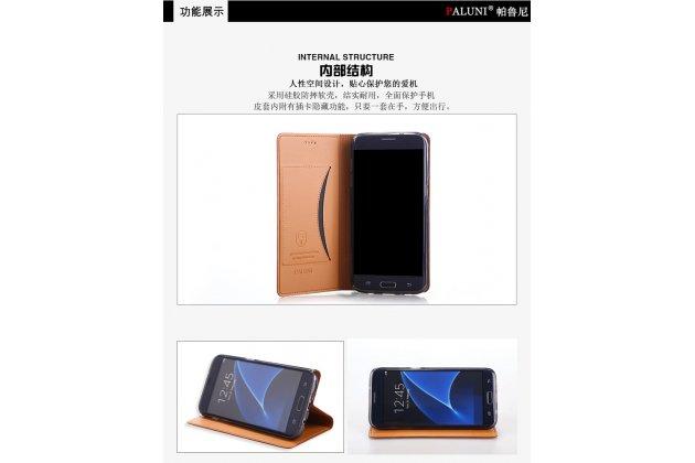 Фирменный роскошный эксклюзивный чехол с объёмным 3D изображением рельефа кожи крокодила синий для Lenovo К6 Note 5.5 (K53A48) . Только в нашем магазине. Количество ограничено