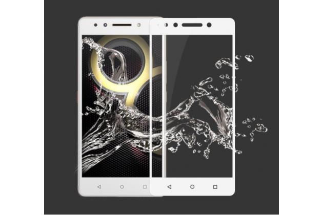 Фирменное 3D защитное изогнутое стекло с закругленными изогнутыми краями которое полностью закрывает экран / дисплей по краям с олеофобным покрытием для Lenovo K8 Note/K8 Plus