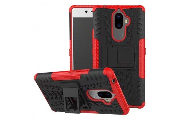Противоударный усиленный ударопрочный фирменный чехол-бампер-пенал для Lenovo K8 Note/K8 Plus красный
