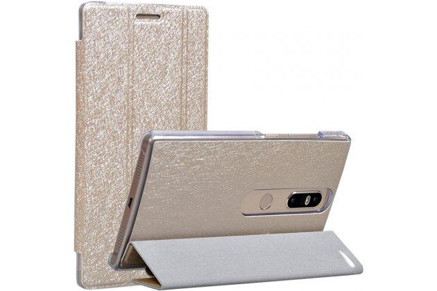 Фирменный умный чехол самый тонкий в мире для Lenovo Phab 2 Plus PB2-670M 6.4 iL Sottile золотой пластиковый Италия