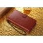 Фирменный чехол-книжка из качественной импортной кожи с подставкой застёжкой и визитницей для Lenovo Phab PB1-..