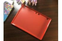 Фирменная ультра-тонкая полимерная из мягкого качественного силикона задняя панель-чехол-накладка для Lenovo Tab 2 A10-30 / Lenovo TAB 2 X30 красная