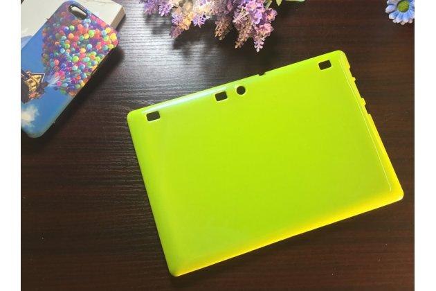 Фирменная ультра-тонкая полимерная из мягкого качественного силикона задняя панель-чехол-накладка для Lenovo Tab 2 A10-30 / Lenovo TAB 2 X30 зеленая