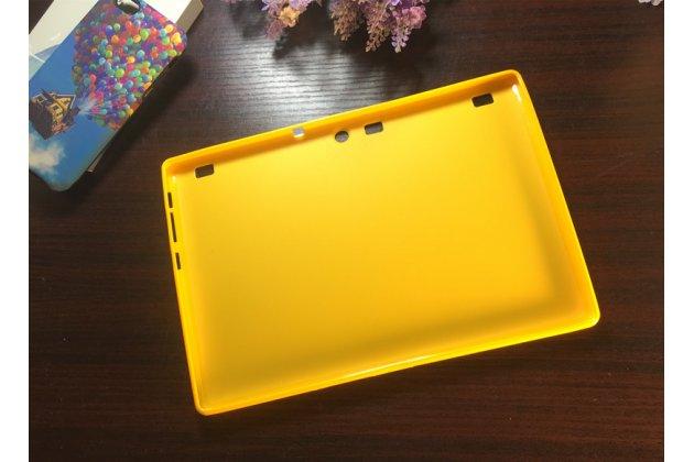 Фирменная ультра-тонкая полимерная из мягкого качественного силикона задняя панель-чехол-накладка для Lenovo Tab 2 A10-30 / Lenovo TAB 2 X30 желтая