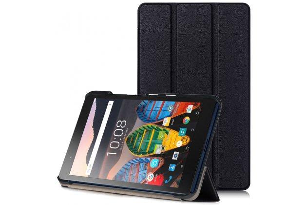 Фирменный умный чехол самый тонкий в мире для Lenovo TB-8703N / X (ZA230018RU) iL Sottile черный пластиковый Италия