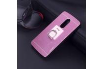 """Фирменная металлическая задняя панель-крышка-накладка из тончайшего облегченного авиационного алюминия для Lenovo Vibe Х3/ X3c50/ X3c70"""" розовая"""